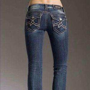 Miss me Irene boot cut medium wash distress jeans